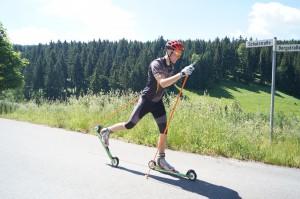 Skirollern in der Klassiktechnik