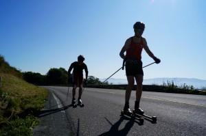 Sommerlich Skirollern