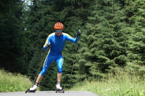 Skirollern auf hohem Niveau