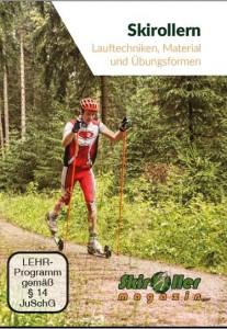 Skirollern-Lauftechniken, Material und Übungsformen